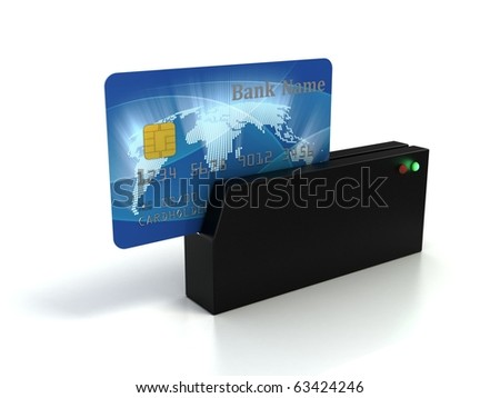 credit card checking - stock photo