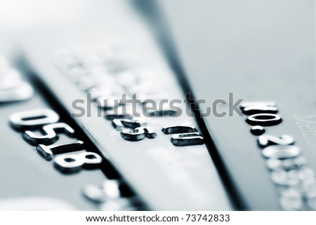 Credit card, close-up