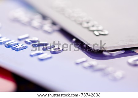 Credit card, close-up - stock photo