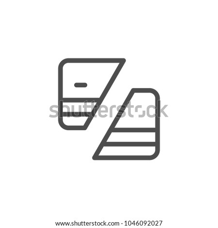 Credit card deactivation line icon isolated on white
