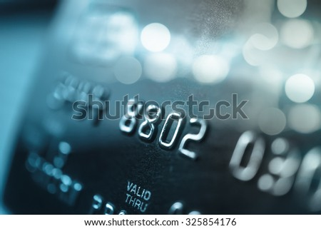 Credit card in blur style for background #325854176