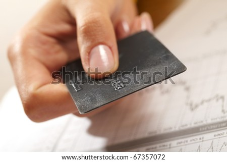 credit card in human hand