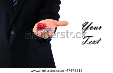 Credit card in present - stock photo