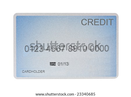 Credit card isolated on a white background
