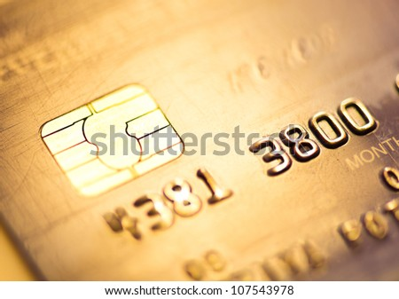 credit card, macro - stock photo