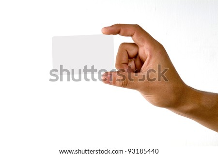 Credit card male hand holding