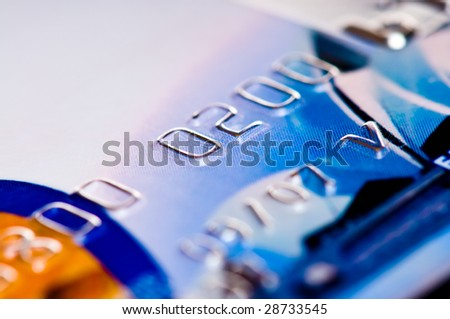 credit card. shallow depth of focus - stock photo