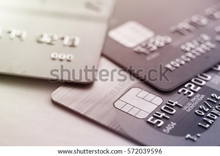 credit card shopping closeup...