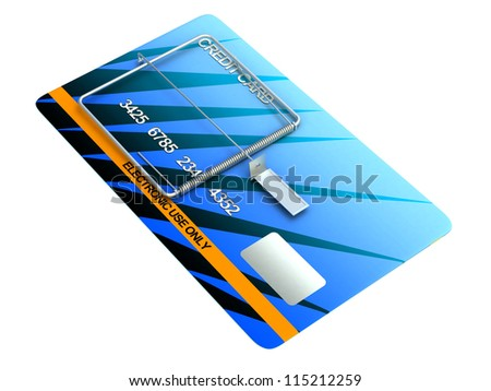 Credit Card Trap on the white background