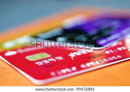 Credit card with great colors and light