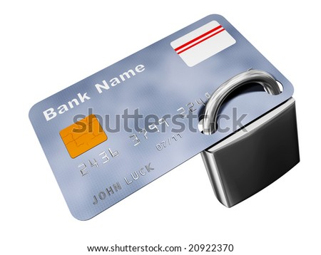 credit card with padlock