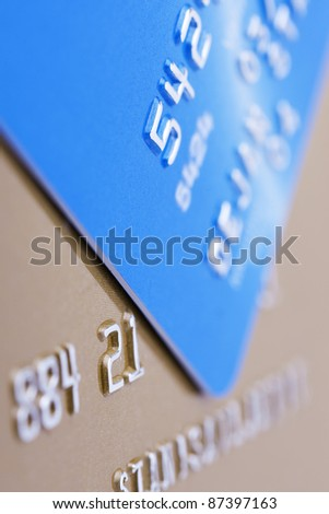 Credit cards background, shallow depth of field