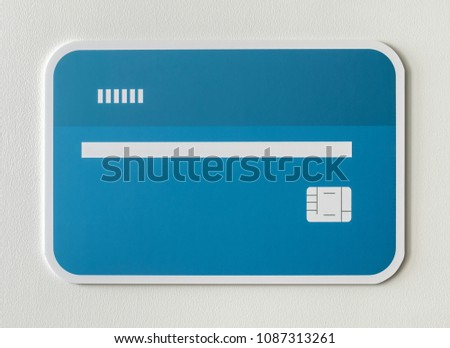 Credit debit bank card icon #1087313261