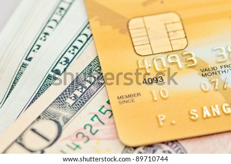 credit gold card with cash