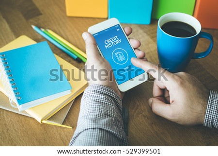 CREDIT HISTORY CONCEPT ON SCREEN Stock photo ©