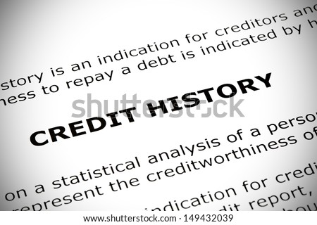 Credit History heading printed on a white page with vignetting effect.