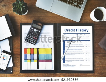 Credit History Invoice Payment Form Information Concept Stock photo ©