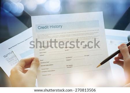 Credit report concept Stock photo ©