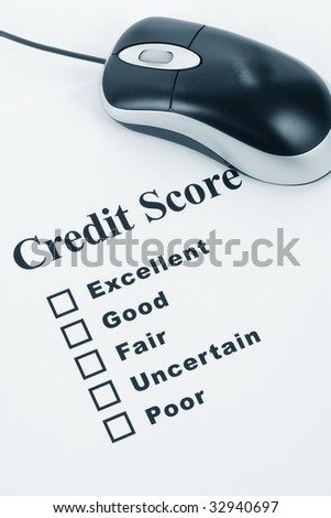Credit Score, Business Concept for Background