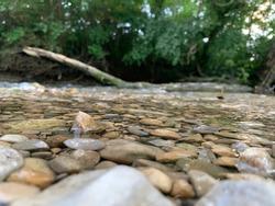 Creek water flowing through Beaver Creek in Ohio