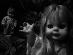 Creepy doll goodbye