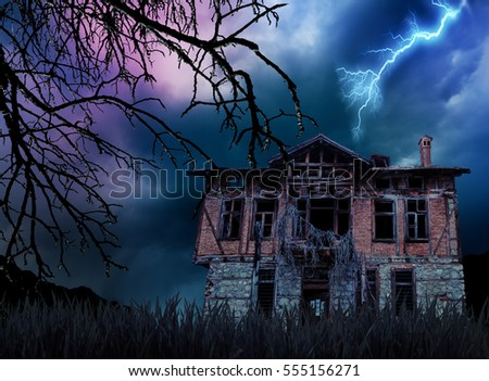 creepy haunted old house