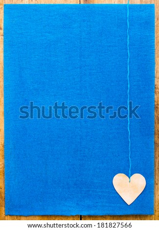 crepe paper and heart