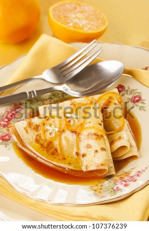 Crepes Suzette. Unsharpened file