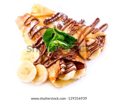 Crepes With Banana And Chocolate