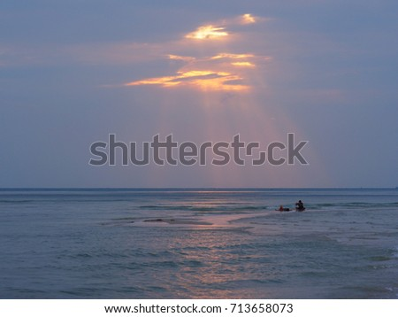 Shutterstock Crepuscular sun rays in the sea
