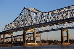 Crescent City Connection bridges in New Orleans, Louisiana.