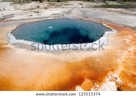 Crested Pool in Yellowstone National Park. - stock photo