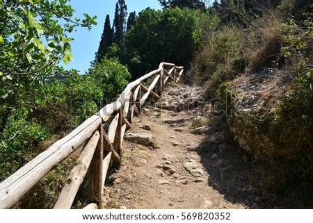 crete greece valley of the forgotten mills mountain pathway Zdjęcia stock ©