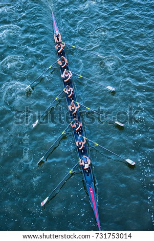 Crew Team in Competition  - Shutterstock ID 731753014