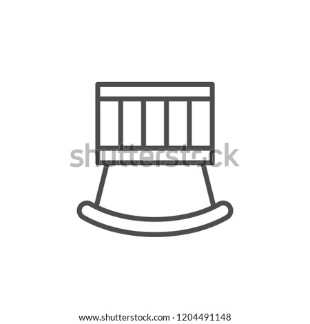 Crib line icon isolated on white