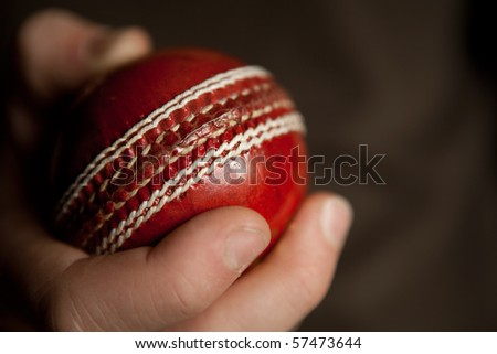 Cricket Ball in hand