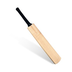 Cricket bat isolated on white background. This has clipping path.