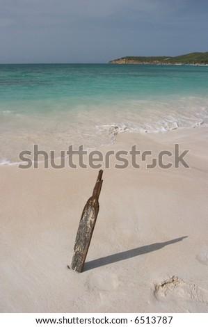 Cricket Bat on the Beach, Antigua