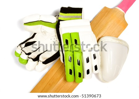cricket bat logo. stock photo : Cricket bat with