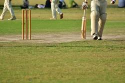cricket batsman is running