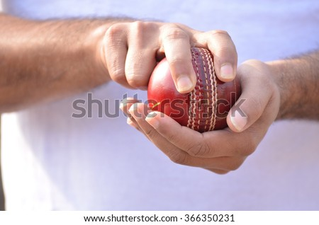 cricket fast bowler going to ball.