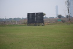 cricket play ground for local cricket, Indias most famous sport Cricket stadium in Delhi India
