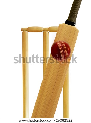 cricket bat and ball and stumps. stock photo : Cricket stumps,