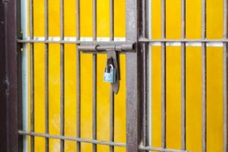 Crime - Prison Cell Bars with locked