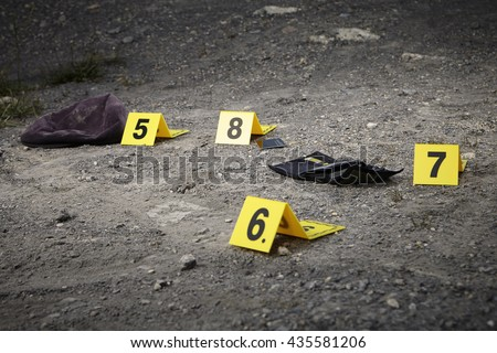 Crime scene investigation - munbering of evidences