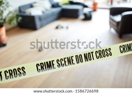 Crime scene Locking up the police after crimes in a house