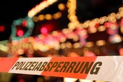 crime scene on Theme Park or market