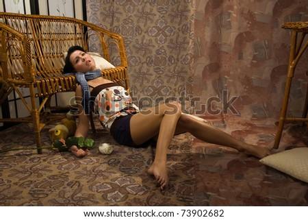 Strangled Woman Crime Scene
