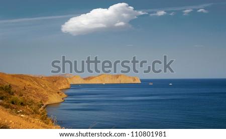 Crimea. Koktebel. Beautiful sea landscape.