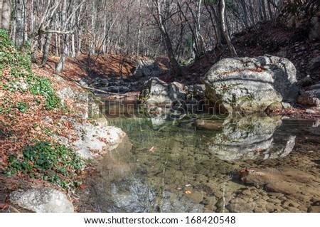 Crimea mountain rivers. Protected areas of the Crimea. Grand Canyon of Crimea